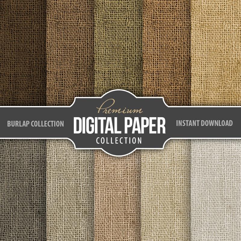 Burlap Digital Scrapbook Paper