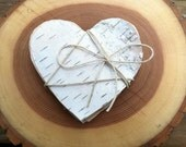 25 Birch Bark heart gift tags - LightofdayCreations