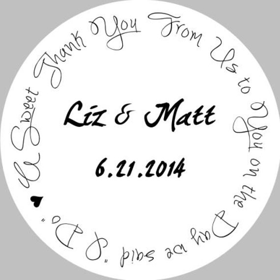 Wedding Gift Sticker Template : Wedding Party Favor Sticker Template (DIY Printable Template Instant ...