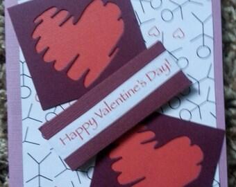 Cupid & Hearts Valentine card