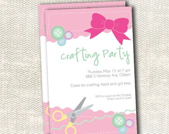 Crafting Party Invitation