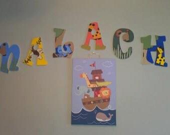 Jungle custom wall letters (sweet sweet jojo bed theme)
