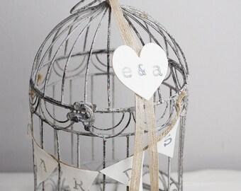Rustic Wedding Card Bird Cage Card Holder