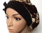 Handmade Velvet Slouch Beret Beanie Ideal for Hair Loss
