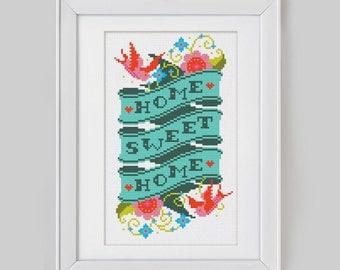 Home Sweet Home - Cross Stitch Pattern (Digital Format - PDF)