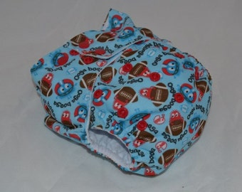 Anniversary Sale Ooga Booga Football -OS Pocket Diaper