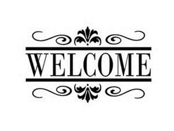 Foyer Office Quotes : Items similar to welcome sign wall decal