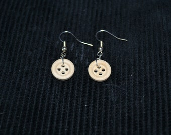 Coraline Inspired Button Earrings