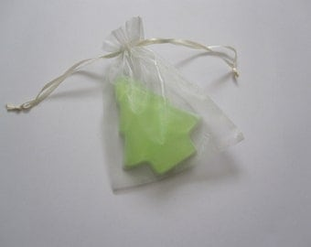 Christmas Tree Soap Favor - Handmade Glycerin - Select your color and scent - set of 100