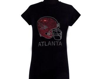 ATLANTA Helmet Rhinestone Embellished T-Shirts