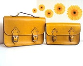 A Set of 2 ,Valentines Day Matching Messenger Bag ,Yellow ,for mothers and daughters Tote Bag ,ipad Bag ,for valentines