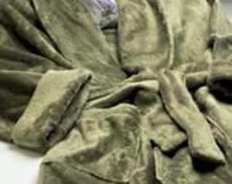 Sage Green Minky Spa Bath Robe