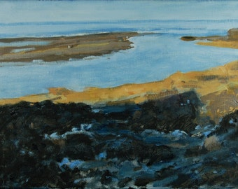Original Oil Painting, Seascape, Maine Coast, Ogunquit