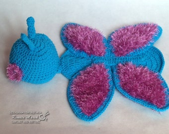 crochet butterfly photo props