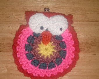 Crochet Owl Coin purse