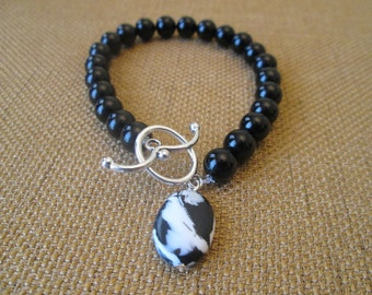 Black Onyx and Turkey Turquoise Bracelet by The Darling Duck