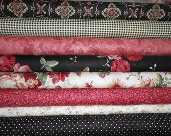 Return to Romance bundle of half yds of each of 8 fabrics-total 4 yds