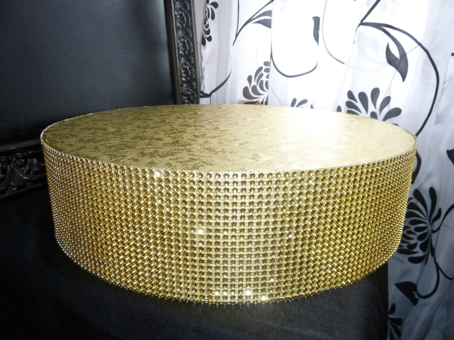 gold cake stand 12 14 or 16 round or square