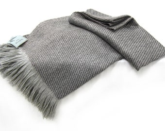 100% Wool Throw Blanket, Luxury Woven Twill - No Synthetics, All Natural