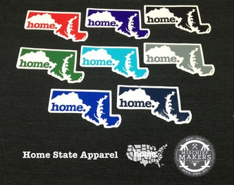 Maryland Home. Colored Vinyl Sticker