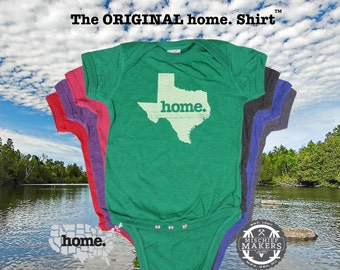Texas Baby Bodysuit--purple, green, pink, green