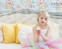 6ft x 5ft Shabby Chic Bed Backdrop - White Headboard Photography Background - Childrens Bed Backdrop - Vinyl or Poly - Item 1384