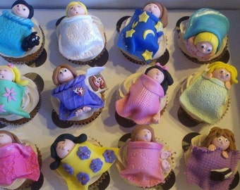 Slumber Party cupcake toppers