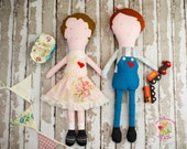 One (1) Lucy or Jake Softie Dolls, Old Fashioned Boy and Girl Dolls, Custom Made
