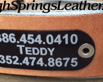 Add this ID tag to your dog's leather collar