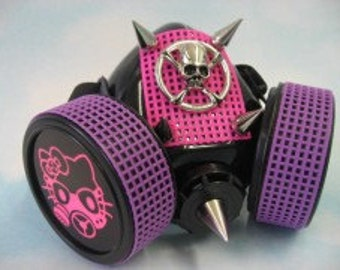 Pink & Purple Cyber Gas Mask Kitten Respirator