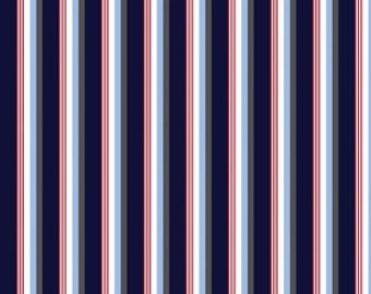 Speedster Sporty Blue Stripes by Riley Blake Designs