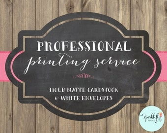 Professional Printing Service for Invitations (Single Sided Print) by Sparklefly Paperie