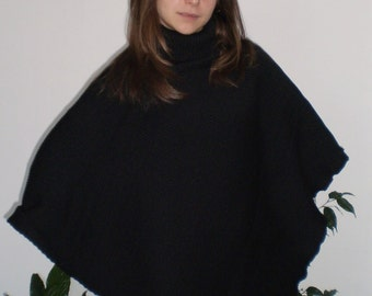 Ultra Comfortable Warm Knitted Poncho with Turtleneck & Nara PPL008