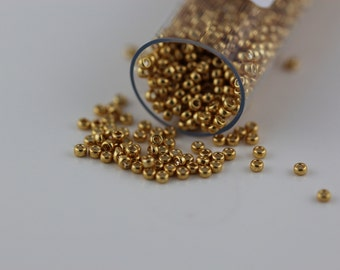 15/0 Galvanized Yellow Gold #1053, Miyuki Seed beads  8 grams  (A-15C)