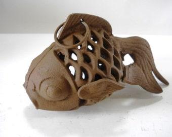 Cast Iron Fish Candle Holder