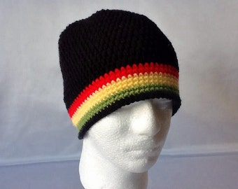 Crocheted Hat For Adults.Crocheted Beanie Hat.