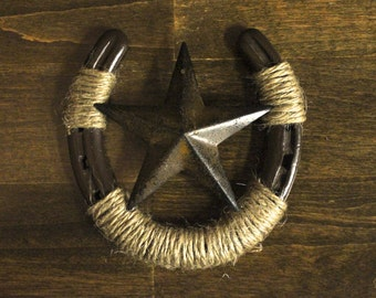 Horseshoe Wall Decor with Star