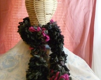 Loopy Scarf: Galaxy-Black and Pink