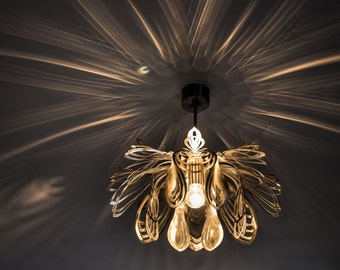 Modern Lamp, unusual design, ceiling light STEEL PETALS