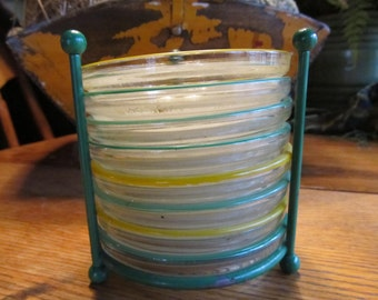 1940-50's Glass Coaster Set