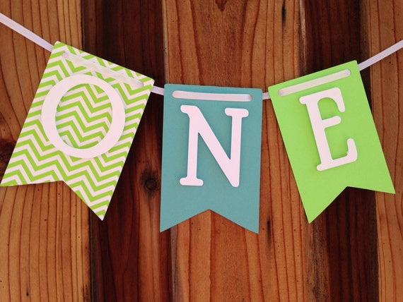 ONE, High chair banner, first Birthday, I am one,