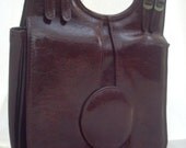 Vintage Handbag. Patent, Brown
