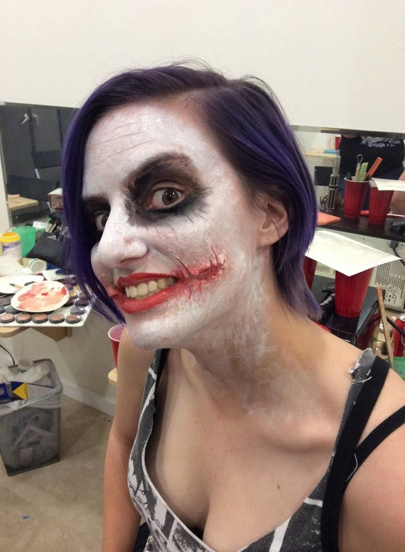 Silicone Makeup Brushes: Silicone Dark Knight Joker Scars Prosthetic Makeup Appliance