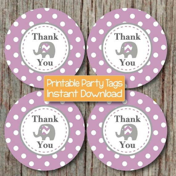 Items Similar To DIY Favor Tags Thank You Labels Baby