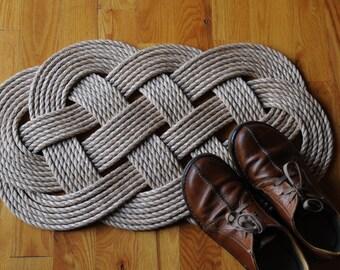 Nautical Decor - Pro Manila - Welcome Rope Rug - Front Door Mat
