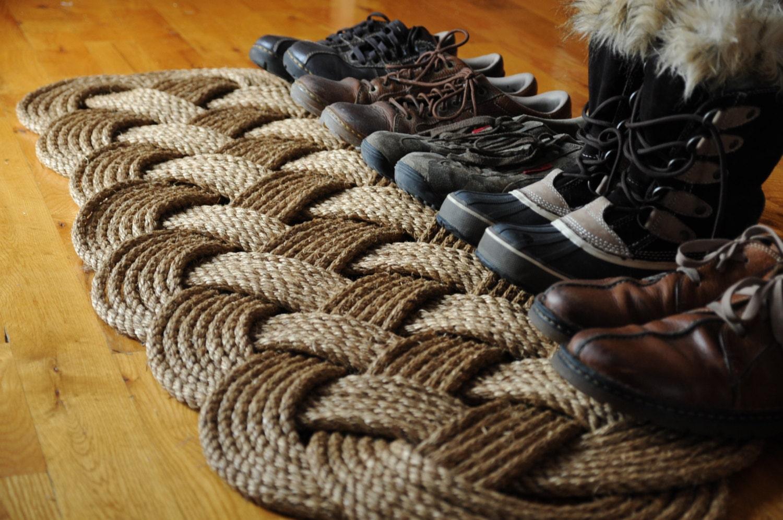 prolong rope rug nautical rope mat patio door rug
