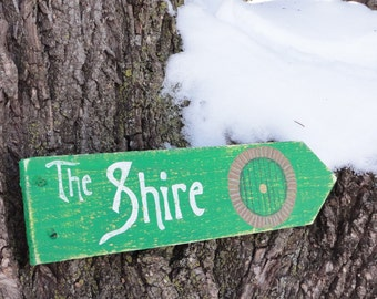 The Shire Wooden Directional Sign - Made to Order