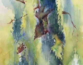 Willow Tree painting - tree print watercolor - tree print or original painting