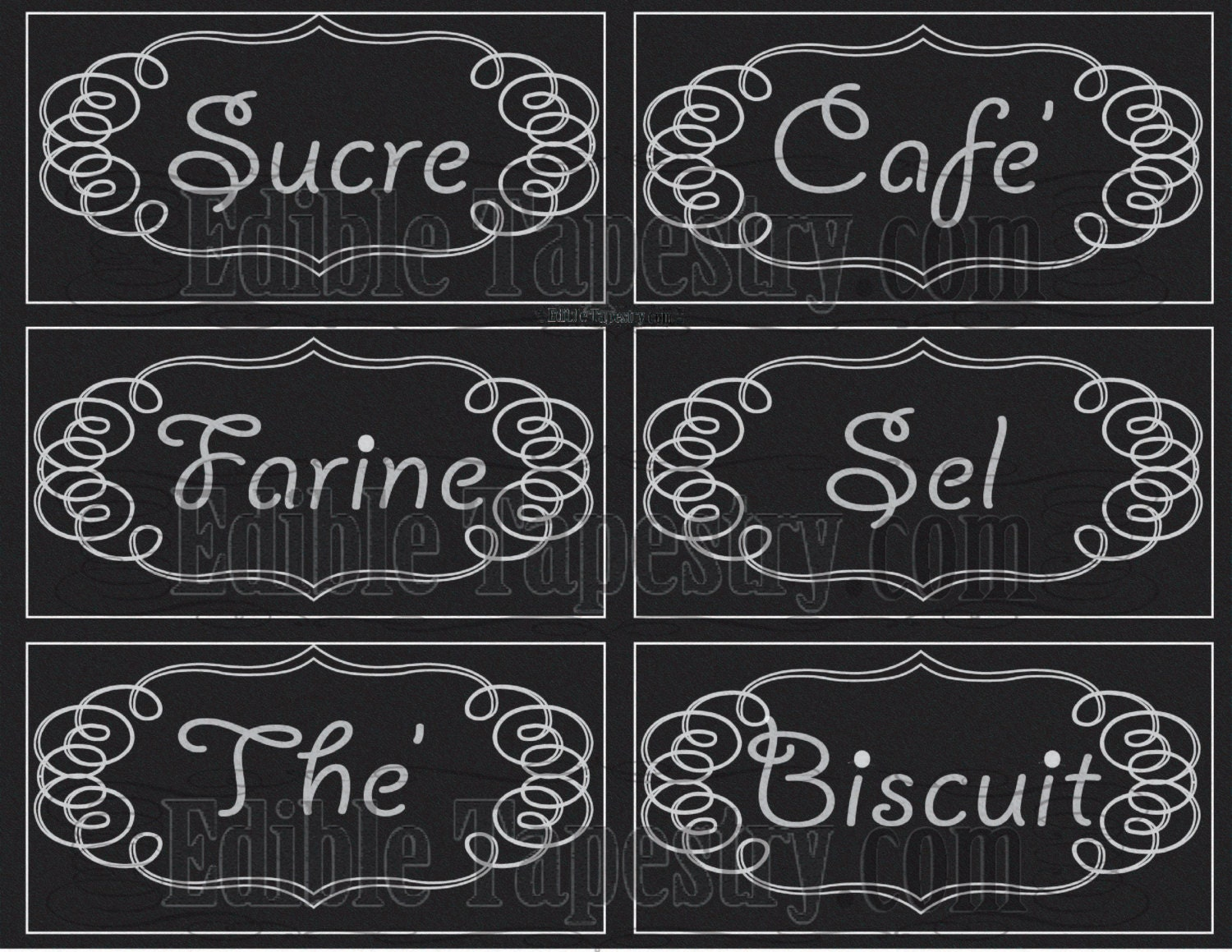 french canister labels printable jpg sheet chalkboard style