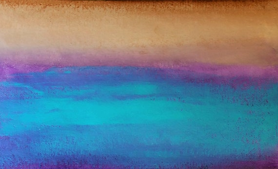 Landscape painting, Large Painting, Acrylic Painting, abstract ..Cool Sea.30x40-By Ava Avadon